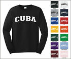 Country of Cuba College Letter Long Sleeve Jersey T-shirt