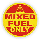 Mixed Fuel Only Warning Label / Sticker / Decal Gasoline Oil Mixture 2 Stroke