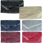 Patent Suede Clutch Bag Suedette Flat Envelope Evening Leather Womens Fashion