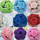 """100 Real Touch Roses~Wedding Bridal Bouquet Decor Artificial Flower Wholesale 3"""""""