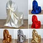 100 pcs SATIN UNIVERSAL CHAIR COVERS Wholesale Wedding Party Ceremony Supplies