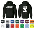 Canucks Custom Personalized Name & Number Adult Jersey Hooded Sweatshirt