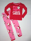 Girl's Carter's Christmas Holiday Santa 2 piece Pajamas Size-18M ,2T ,  3T
