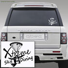 SKY DIVING car van wall sticker - xmas birthday gift