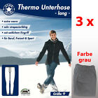 3 Thermo Unterhose lang grau extra warm  90% BAUMWOLLE  Gr. 6 7 8 9 10 TOP *****