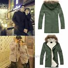 Womens Mens Couples Lovers Hoodie Long Jacket Trench Coat Thicken Parka Winter