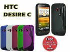 S-Line Gel Silicone Case Skin Cover For HTC Desire C A320e + Extras 5 COLOURS