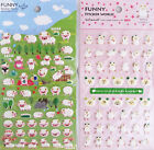Funny Sticker World Sheep Puffy Sticker Sheet (Your Choice of Design)~KAWAII!!