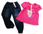 GIRLS CUTE TOP AND JEAN SET SZ 3months