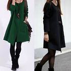 Fashion Women Casual Soft Irregular Warm Pocket Coat Jacket Long Sleeve Outwear