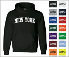 State of New York College Letter Adult Jersey Hooded Sweatshirt