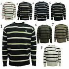Mens Strylish Retro Knitted Jumper Casual Sweat Striped Sweatshirt Top S M L XL