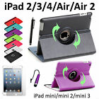Housse Coque Etui PU Cuir iPad 2 3 4 5 Air 2 iPad Mini Rotative 360 Smart Cover