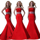RED Formal Party Evening Gown Bridesmaid Prom Mermaid Wedding Cocktail Dresses