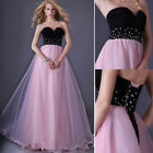 Sweetheart Splice Color Party Bandage Dress Evening Prom Formal Long Ball Gown