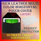 "RICH LEATHER MULTI-COLOR COVER POUCH 7"" TABLET TAB CARRY CASE HORIZONTAL BAG NEW"