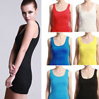 Women's Cotton Blend TANK TOP Layering Sleeveless Tee Shirt