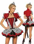 Ensemble costume reine rouge lingerie sexy nuisette babydoll nightgown