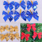 12PC Christmas Tree Bow Decoration Baubles Merry XMAS Party Garden Bows Ornament