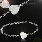 New Sterling Silver 925 Bracelet with free Engraving Plate Heart Christmas Gift