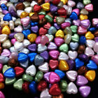 200 Plastic Imitation Pearl HEART Beads 6mm :Colour Options