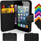 Magnetic Leather Book Wallet Flip Pouch Case Cover For Apple iPhone 5 5s