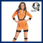 Orange Astronaut Jumpsuit Women's Costume - BEST Quality Space Fancy Dress