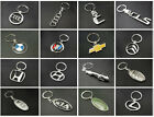 Car Logo Metal Key Ring Chains 3D chrome 36 Popular Motor Brands and makes Rings