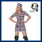 Women's Pink Prison Convict Jail Costume - Ladies Best Quality Fancy Dress