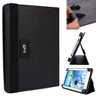 Kroo Black Universal Adjustable Folio Stand Cover for 9 Tablets & E-Readers