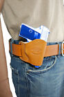 NEW Barsony Tan Leather OWB Yaqui Holster Smith & Wesson Mini-Pocket 22 25 380