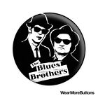 The Blues Brothers Pin Button Badge Fridge Magnet (Dan Aykroyd & John Belushi)