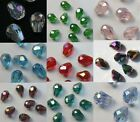 100Pcs Faced Crystal Tear Drop Loose Spacer Beads 8x6mm Fit Jewelry DIY Making