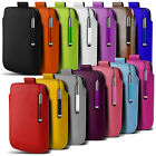 Leather PU Pull tab Pouch Case & Stylus Pen For Most LG Mobile Phones