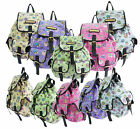 New LYDC Anna Smith Canvas Tea Time Rucksack Backpack Fabric Pockets School