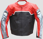 """Men's Black and RED Racer Motorcycle Jacket""""BRAND NEW"""""""