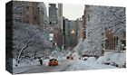 Winter Snow Covered New York  Cotton Canvas Wall Art Picture Print - ALL SIZES