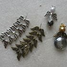 5-200 Angel Wing Charms Silver/Bronze Ideal For Craft Jewellery Making UK Seller