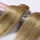 "7pcs/set clip in Real Human Hair Extension #24 Fashion Medium Blonde 14""-22"""