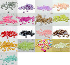 8MM 100/1000pcs Round Flat Back Bead Half Pearl Beads Scrapbooking DIY Craft