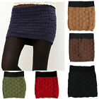 Ladies Pleated Mini Skirts Sexy Stretch Knitted Dresses Winter Skirts Black