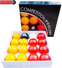"""2"""" PROFESSIONAL Red Yellow Pool Balls Set with TRIANGLE Option Suit In PUB CLUB"""
