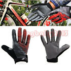 New Mountain Climbing Driving Cycling Bike Bicycle Sports Full Finger Glove Red