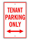 "Tenant Parking Only Sign / 14"" x 9"" Resident Apartment  (Choice of 4 Colors)"