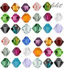 100pcs Faceted Bicone Flicker Glass Crystal Spacer 4mm Beads Jewellery Making