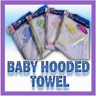 Baby Boy Girl Towel Thin Soft Hooded Bath Time Pink Blue Green Yellow Absorbent