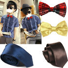 new skinny mens wedding solid plain or Bow 2 STYLE necktie color tie FREE SHIP