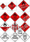 Dangerous substances labels stickers signs health & safety H&S flammable gas 1