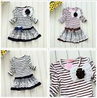 Baby Girls Top Kid Lace Princess Long Sleeve Floral TUTU Dress 3-11Y Clothes
