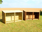 XL DOUBLE 4FT OUTDOOR WOODEN LOG STORE - ALSO AVAILABLE WITH DOORS.